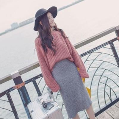 ニット レディース トップス 長袖 ゆったり ざっくり編み トレンド かわいい 人気 オーバーサイズ セーター ニット レディー