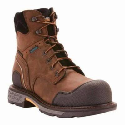 アリアト ブーツ OverDrive XTR 6 H2O Composite Toe Boot Oily Distressed Brown Full Grain Leather