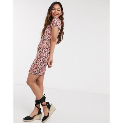 ピーシーズ レディース ワンピース トップス Pieces bardot mini dress