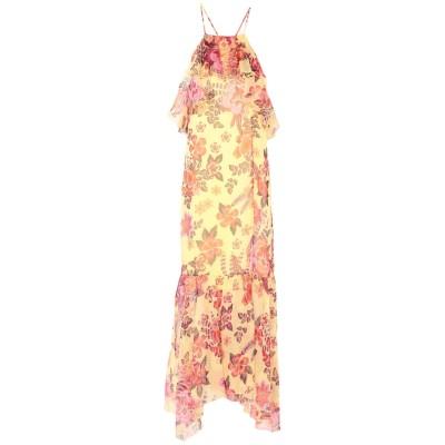 アトス ロンバルディーニ ATOS LOMBARDINI 7分丈ワンピース・ドレス イエロー 40 ポリエステル 100% 7分丈ワンピース・ドレス
