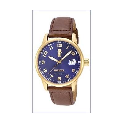 """【新品】Invicta Men's 15255 """"I-Force"""" 18k Gold Ion-Plated Stainless Steel and Brown Leather Watch(並行輸入品)"""