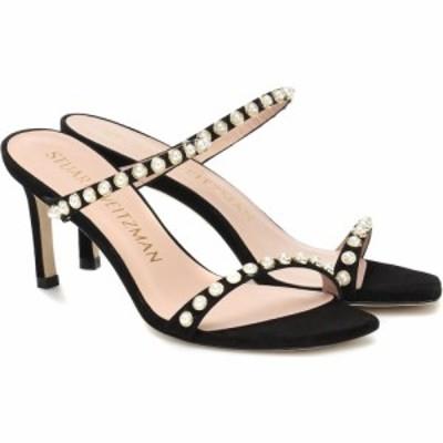スチュアート ワイツマン Stuart Weitzman レディース サンダル・ミュール シューズ・靴 Aleena 75 embellished suede sandals Black