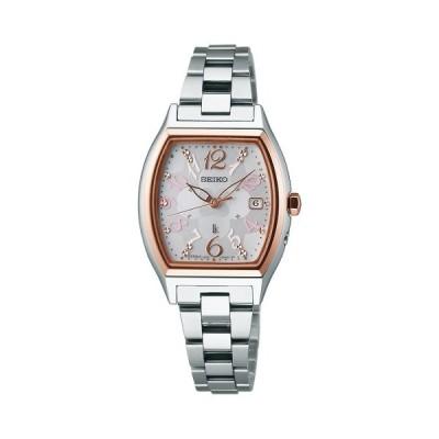 セイコー ルキア レディース 腕時計 SSQW020 ピンクゴールド コンフォテックス チタン SEIKO ソーラー電波時計 新品