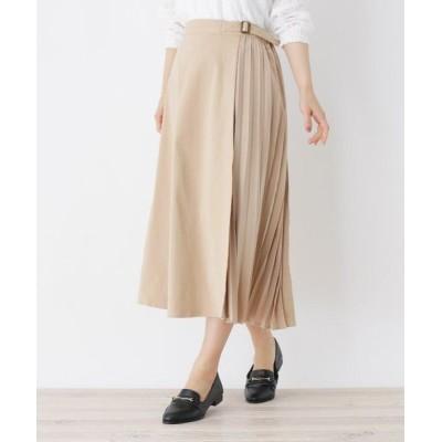 SHOO・LA・RUE/シューラルー サイドプリーツスカート サンドベージュ(053) 03(L)