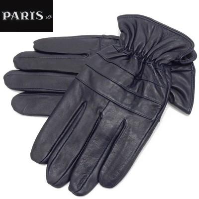 手袋 PARIS16e 羊革/シープスキン ネイビー メンズ グローブ メール便可 LAM-N05-NV