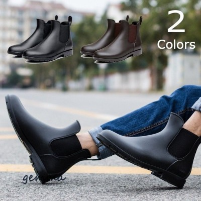 レインシューズ メンズ ショートブーツ レインブーツ 防水 雨靴 メンズ靴 シューズ