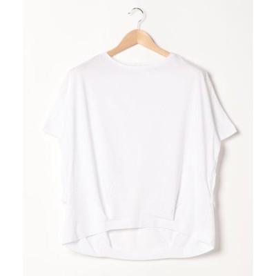 tシャツ Tシャツ 裾タック半袖カットプルオーバー1 〇*