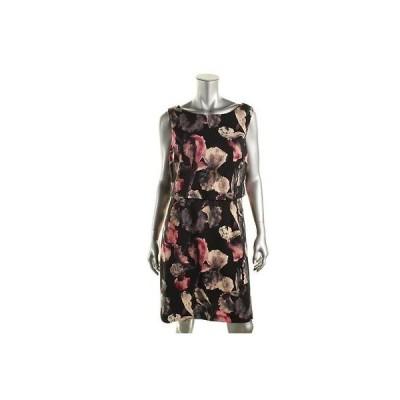 イヴァンカトランプ ドレス ワンピース Ivanka Trump 5730 レディース ブラック ノースリーブ Knee Length カジュアル ドレス 12 BHFO