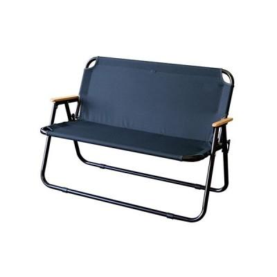 【セール品】フォールディングチェア 2-seater bcl アルマイト ネイビー ベンチ アウトドア キャンプ 椅子 ファニチャー 二人用 持ち運び 1113cp