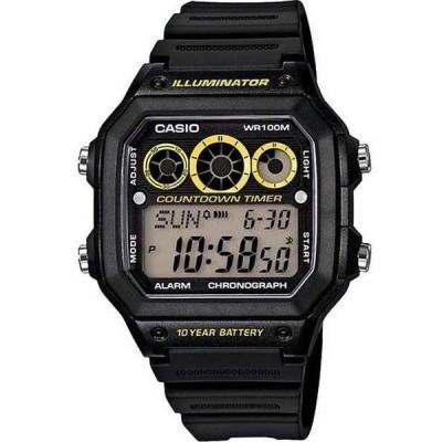 腕時計 カシオ Casio AE1300WH-1A メンズ レジン バンド World Time アラーム クロノグラフ Referee Timer 腕時計