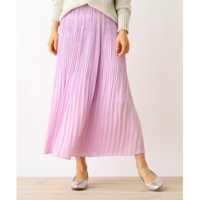 HusHusH(Ladies)(ハッシュアッシュ(レディース)) 【手洗いOK】ビンテージサテンプリーツスカート