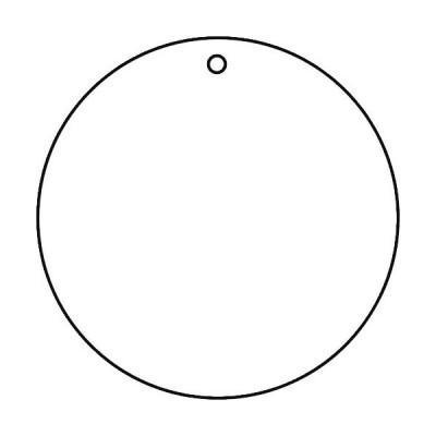 トラスコ 白無地板 10枚組 50Ф×2厚 (1組) 品番:T886-40
