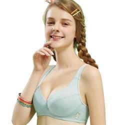 思薇爾 豬寶貝自由風系列A-C罩素面包覆內衣(羽絨藍)