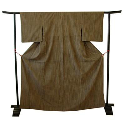 きものしらゆり 身丈159.1cm 裄63.6cm 夏物 夏紬 正絹 仕立上り 148cm〜154cmの方に最適 T824F