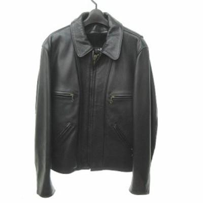 【中古】ショット SCHOTT ライナー付 ライダース ジャケット  革ジャン ジップアップ 680 USA製 ブラック 黒 40 0330 メンズ