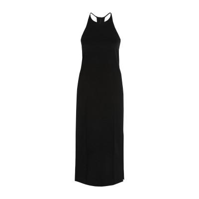 イードゥン EDUN 7分丈ワンピース・ドレス ブラック 0 アセテート 80% / ポリエステル 20% 7分丈ワンピース・ドレス
