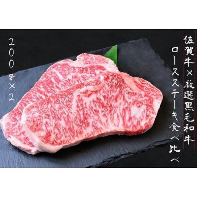 DX001_佐賀牛×厳選黒毛和牛 ロースステーキ食べ比べ