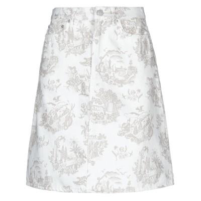 WOOD WOOD デニムスカート ホワイト 36 コットン 100% デニムスカート