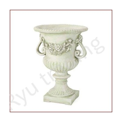 "新品Christopher Knight Home Buena Outdoor 24"" Cast Stone Urn, White color with green Moss"