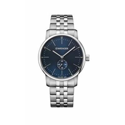 腕時計 ウェンガー スイス Wenger Men's Classic Swiss-Quartz Watch with Stainless-Steel Strap, Silver
