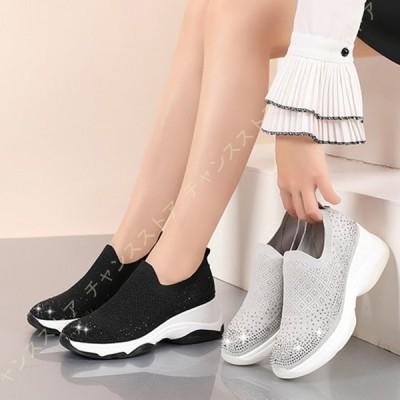 スリッポン スニーカー レディース ナースシューズ 婦人靴 ウォーキングシューズ カジュアルシューズ スポーツシューズ デッキシューズ 幅広 大きいサイズ