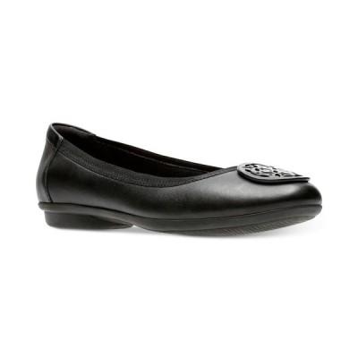 クラークス Clarks レディース スリッポン・フラット シューズ・靴 Collection Gracelin Lola Flats Black Leather