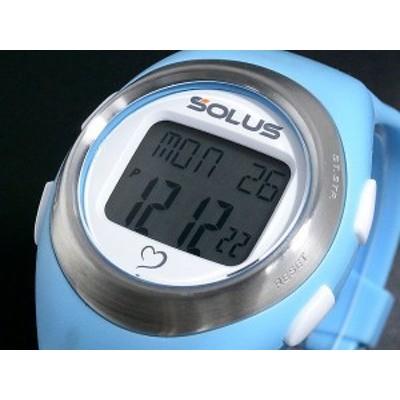 【SOLUS Leisure 800】ソーラス レジャー800 ウォーキング ジョギング 健康 腕時計 消費カロリー 心拍数測定機能 ライトブルー 01-800-03