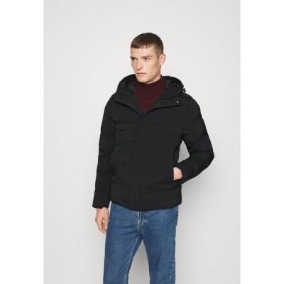 トミー ヒルフィガー ジャケット&ブルゾン メンズ アウター HOODED STRETCH - Winter jacket - black