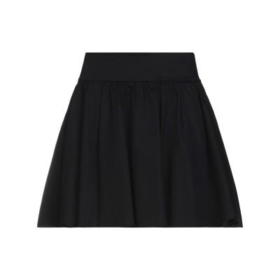 モスキーノ MOSCHINO ミニスカート ブラック 42 コットン 96% / ポリウレタン 4% ミニスカート