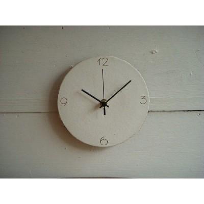 信楽焼 壁掛け時計 CL'−6(S) スタンド付