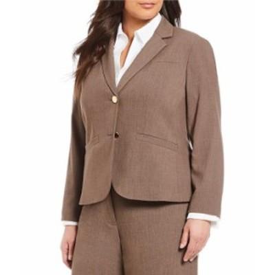 カルバンクライン レディース ジャケット・ブルゾン アウター Plus 2 Button Luxe Notch Collar Jacket Heather Taupe