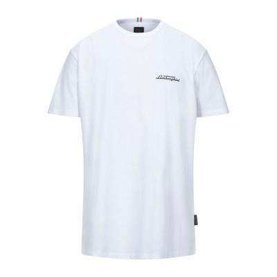 AUTOMOBILI LAMBORGHINI T シャツ ホワイト S コットン 100% T シャツ