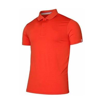 BCPOLOメンズポロシャツスパンデックス半袖アスレチックソリッドポロシャツ Scarlet XL