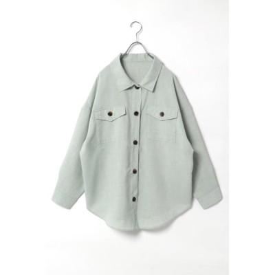 【ヴァンスシェアスタイル/VENCE share style】 EリネンライクCPOシャツ
