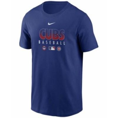 ナイキ メンズ Tシャツ トップス Chicago Cubs Men's Early Work Dri-Fit T-Shirt RoyalBlue