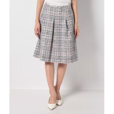 MISS J/ミス ジェイ LINTONツイードスカート ネイビー 40