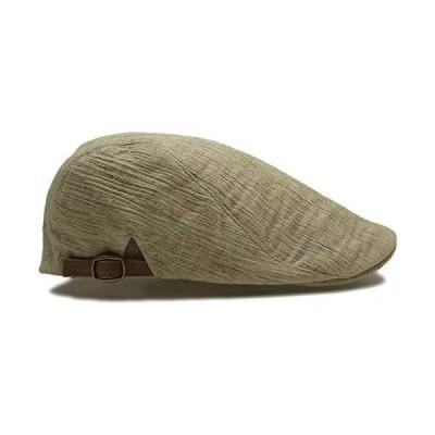 (ディグズハット)DIGZHAT ハンチング 麻混 フリーサイズ 軽い 薄手 春夏 爽やかな帽子 (ベージュカーキ)