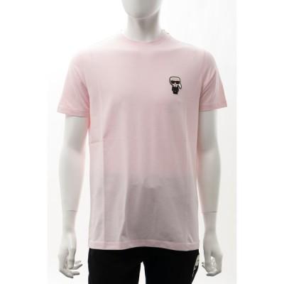 カールラガーフェルド Tシャツ 半袖 丸首 クルーネック メンズ 755025 511221 ライトピンク KARL LAGERFELD 2021年春夏新作