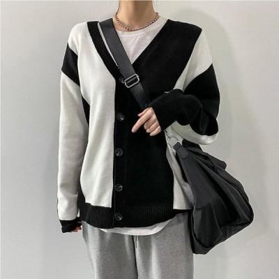 VANILLAMILK レディース カーディガン ベスト V-Neck Color Knitwear Cardigan