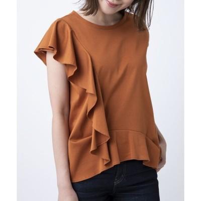 ラッフルデザインTシャツ(プレーン)