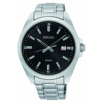 セイコー 腕時計 Seiko SUR277 Classic クラシック Black Dial Stainless Steel Japan クォーツ メンズ Watch SUR277P1