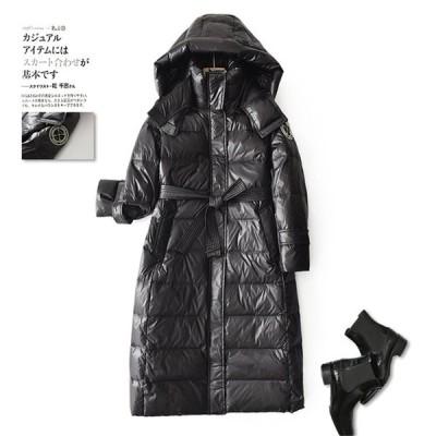 冬服 中綿ダウンコート レディース 40代 ロング丈 軽い 秋冬 アウター 中綿コート 中綿ジャケット ダウン風コート フード付き 厚手 暖かい 大きいサイズ 防寒