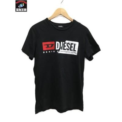 DIESEL/ディーゼル/20SS/ロゴプリント/SSカットソー/M/黒