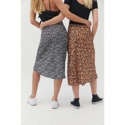 アーバンアウトフィッターズ Urban Outfitters レディース ひざ丈スカート スリップスカート スカート uo rowan midi slip skirt Brown M