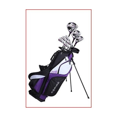 Premium Lightweight Ladies Golf Club Set Right Hand - Cherry Pink Purple, Standard, Petite, Tall, Clubs with Lady Flex【並行輸入品】