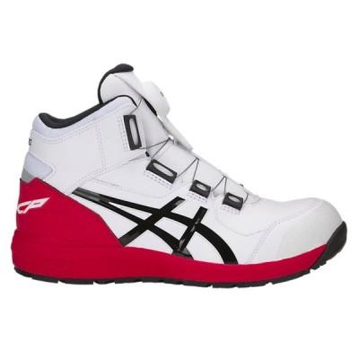 送料無料 アシックス 安全靴 ウィンジョブ CP304BOA 1271A030 100 ホワイトxブラック セーフティーシューズ ウィンジョブR asics