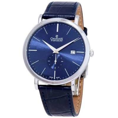腕時計 シャーム メンズ Charmex Ascot Blue Dial Blue Leather Men's Watch 2932