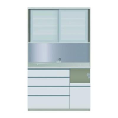 食器棚 キッチン収納 キッチンボード レンジ台 日本製 パモウナ ダイニングボード VZR-S 1200 R W (配送員設置)