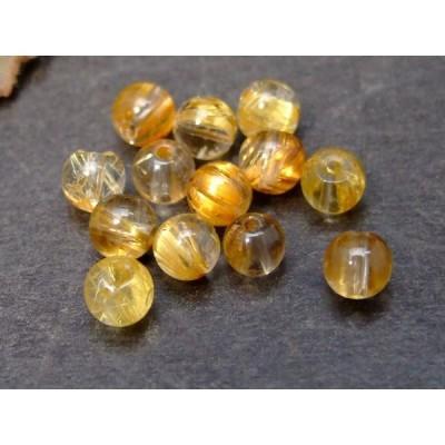 天然石 パワーストーン    56889      タイチンルチルクォーツ 針水晶 わけあり 4.5mm 1粒売り 送料無料有 ブラジル産