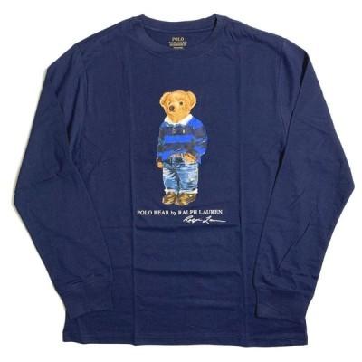 ポロ ラルフ ローレン ボーイズ ベア クルーネック ロングスリーブ Tシャツ クルーズネイビー ボーイズ/長袖Tシャツ